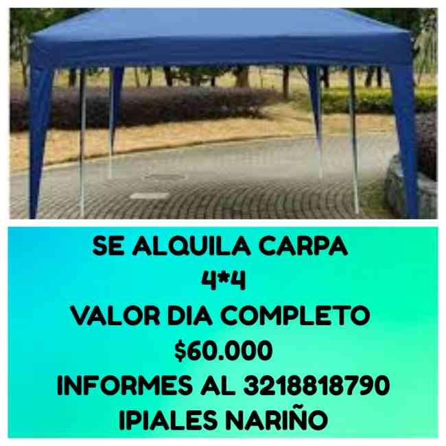 SE ALQUILA CARPA 4*4