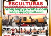 Esculturas, monumentos, estatuas, imágenes, muñecos, figuras, bustos, cuerpos, santos