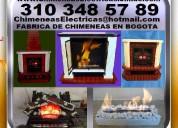 Fabrica de chimeneas, electricas, o etanol, con calefaccion, imitacion ladrillo, marmol, ,