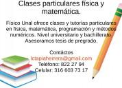 Clases particulares física matemática mosquera - madrid -facatativa