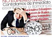 Trabajadores  con o sin experiencia para trabajar con empresa consultora privada