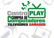 Compro a domicilio su tv ( led,smart) y computadores dañados
