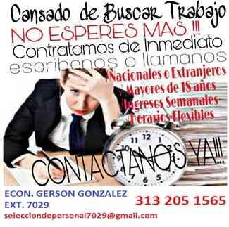 CONVOCATORIA PARA AUXILIARES DE OFICINA EN EL AREA DE RECURSOS HUMANOS