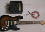 Vendo guitarra electrica + amplificador + linea