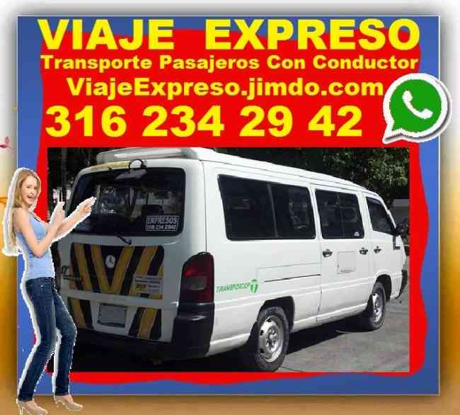 Alquiler Vans, Van Desde Bogota, Chia, Zipaquira, Cajica, Tenjo, Tabio, Sopo, Cota, Sesquile