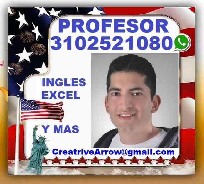 INGLES, EXCEL, Profesor, Clases, Cursos, Tutorias, Niños y Adultos, A Domicilio o Video