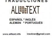 traducciones técnicas en inglés, español, alemán y portugués.