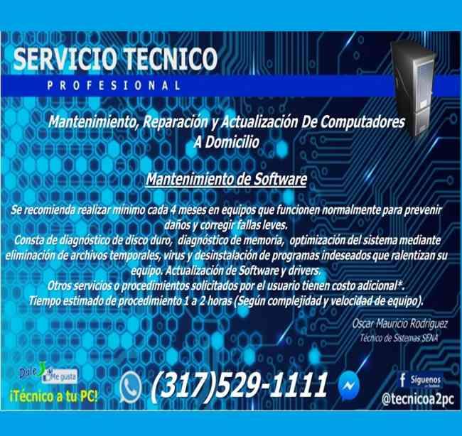 Mantenimiento de computadores a Domicilio Bogota y Cundinamarca