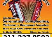 Grupo idolo vallenato. 311 227 85 83