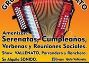 Grupo idolo vallenato. 3112278583