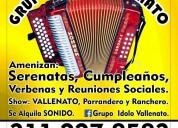 Grupo vallenato de nazareth nobsa. 3112278583