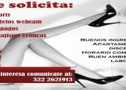 Solicito jÓvenes y veteranas acompaÑantes apartamento reservado 3222621913