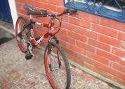 Vendo bicicleta tipo todo terreno  color roja