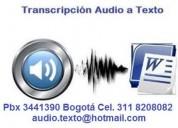 Transcripción audio a texto bogotá 3441390