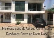 Casa en nariÑo-girardot, 2 pisos, 3 hab, piscina.