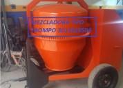 Venta de mezcladora dos bultos con motor de 10 hp