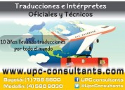 Traducciones certificadas y tÉcnicas en 8 idiomas