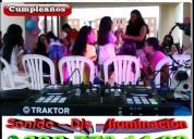Miniteca + recreador + animacion + karaoke + hora loca en cali