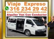 ★ con conductor, alquiler vans, van, buseta, puert