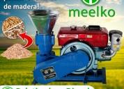 Maquina meelko para pellets con madera mkfd150a.