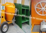 Fabrica de mezcladoras para concreto tipo trompo.