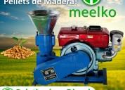 Maquina meelko para pellets con madera mkfd150a