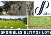 disponibles dos lotes cementerio