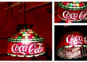 Lampara de coca cola tiffany vitral