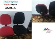 Vendo sillas rojas y negras