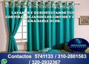 Lavamos cortinas y persianas de cualquier tipo