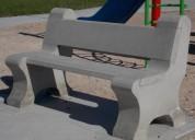 Fabricacion de bancas de concreto,bancas concreto