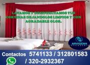 Limpieza y desinfeccion de cortinas y persianas