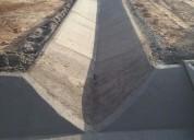 Fabricacion de cunetas de concreto