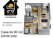 Construmerca casas prefabricadas  desde  8.900.000