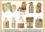 Bolsa yute, algodon personalizadas