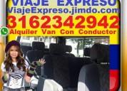 Transporte 16 pasajeros, alquiler van, vans, bog