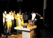 Servicio y show barman y alquiler de barra movil