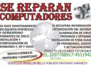 Reparacion computadores citofonos tablets celulare