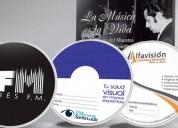 Impresión de cds y dvds desde $500