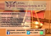 Representación jurídica y asesorías