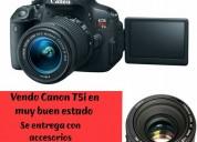 Vendo cámara profesional canon eos rebel t5i