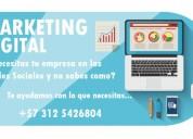 Servicio de marketing digital y redes sociales