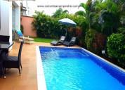 Cc920 casa con aire y piscina para 10 personas.