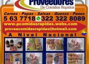 ⭐ proveedores comidas rapidas, distribuidor, insum
