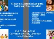 Clases de matemática colegio y universidad