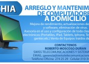 Mantenimiento de computadores domicilio chía
