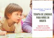 Terapia de lenguaje para niños