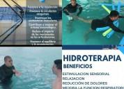 Hidroterapia e hidromasaje.