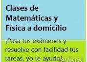 Se dan clases de matemáticas y física