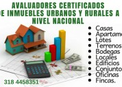 Avaluos certificados a nivel nacional